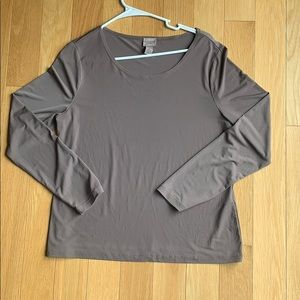 Silky Taupe Long sleeve by CHICOS